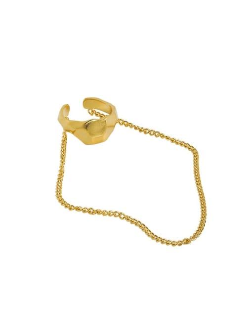 18K gold [single] 925 Sterling Silver Tassel Minimalist Threader Earring [Single]